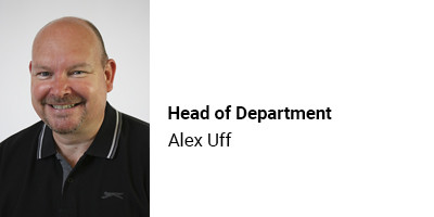 Head of Department Alex Uff