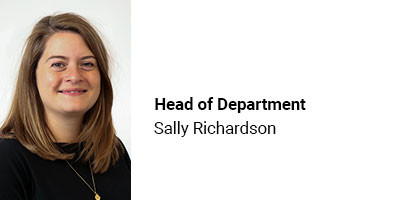 Head of Department Sally Richardson
